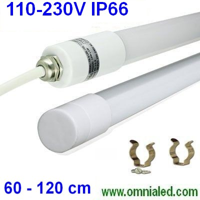 Plafoniera Tubo a Led 120 cm 110-230Vac Stagno IP65